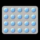 Comprimidos no bloco de bolha Imagens de Stock