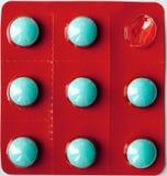 Comprimidos no pacote de bolha Fotos de Stock
