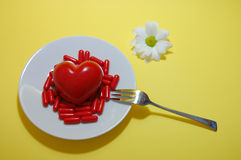 Comprimidos para o coração Fotografia de Stock
