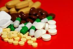 Comprimidos, tratamento Imagem de Stock
