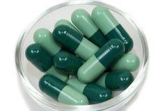 Comprimidos verdes Foto de Stock Royalty Free