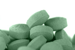 Comprimidos verdes Imagens de Stock Royalty Free