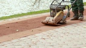 Comprimindo a superfície de estrada filme
