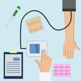 Comprobación de la presión arterial 3 ilustración del vector