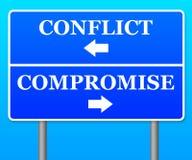 Compromesso di conflitto Immagine Stock