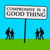 Compromise. Reaching a compromise in life or business vector illustration