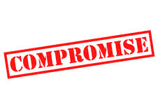 COMPROMISE. Red Rubber Stamp over a white background Stock Images