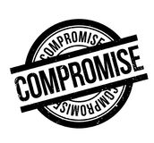Compromise rubber stamp. Grunge design with dust scratches. Effects can be easily removed for a clean, crisp look. Color is easily changed Stock Images