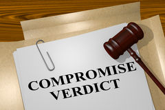 Compromise Verdict - legal concept Royalty Free Stock Image