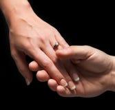 Compromiso de la boda Imagenes de archivo