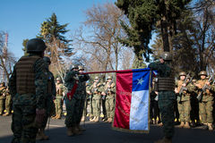 Compromiso de la lealtad, Chile Imagen de archivo