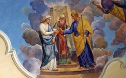 Compromiso de la Virgen María Fotos de archivo