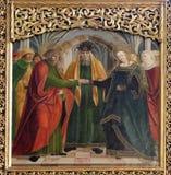 Compromiso de la Virgen María Imagen de archivo