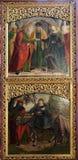 Compromiso de la Virgen María, vuelo a Egipto, altar en iglesia del iceberg de Maria en Hallstatt Imágenes de archivo libres de regalías