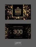 Comprovante de presente moderno do encanto com coroa dourada Imagens de Stock
