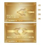 Comprovante do disconto no estilo do ouro do vintage Imagem de Stock