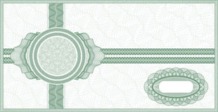 Comprovante do Guilloche Ilustração Royalty Free