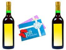 Comprovantes do vinho e do presente Imagem de Stock