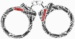Comprovação de antecedentes criminosa Uma COMUNICAÇÃO Imagem de Stock Royalty Free