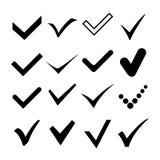Compruebe correcto, confirme el ejemplo del símbolo de la marca Vector libre illustration