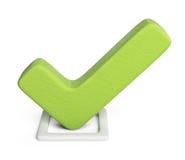 Compruebe 3D icono de la marca de cotejo aislado Imagenes de archivo