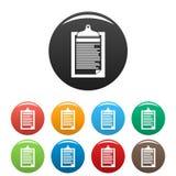 Compruebe el color del sistema de los iconos del impuesto del papel ilustración del vector