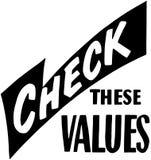 Compruebe estos valores Fotografía de archivo libre de regalías