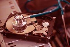 Compruebe la unidad de discos duros Fotos de archivo libres de regalías