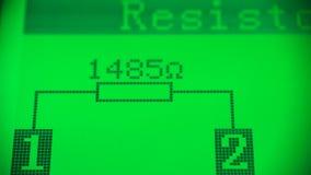 Compruebe la utilidad del resistor almacen de video