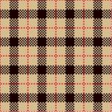 Compruebe los modelos de la tela escocesa Foto de archivo