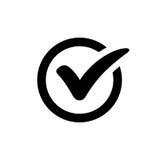 Compruebe a Mark Symbol Imagen de archivo libre de regalías