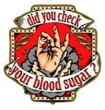 Compruebe su azúcar de sangre stock de ilustración