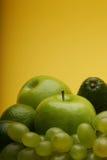 Compsition av blandade frukter - nära övre Fotografering för Bildbyråer