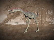 Compsognathus dinosaur - 3D render vector illustration
