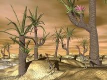 Compsognathus dinosaurs - 3D render Stock Image