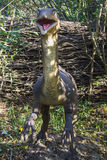 Compsognathus in forest Stock Image