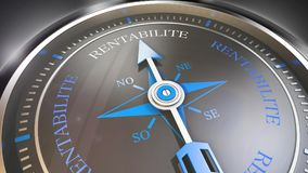 Profitability compass. Compss showing the direction of profitability Royalty Free Stock Image