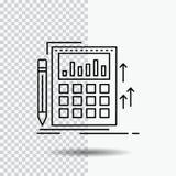 Comptabilit?, audit, op?rations bancaires, calcul, ligne ic?ne de calculatrice sur le fond transparent Illustration noire de vect illustration libre de droits
