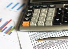 Comptabilité d'analyse financière Image stock