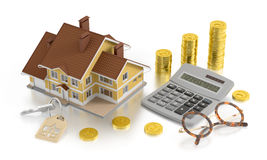 Comptabilité d'immobiliers Photographie stock