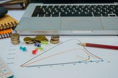 Comptabilité de finances d'affaires images stock