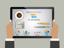 Comptabilité et planification illustration stock