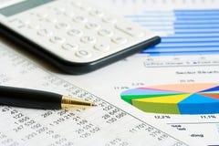 Comptabilité financière Photographie stock