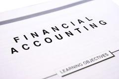 Comptabilité financière Image stock