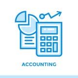 COMPTABILITÉ linéaire d'icône des finances, opérations bancaires Approprié au mobile Photos stock