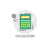 Comptable Finance Analysis Icon de calculatrice Photos libres de droits