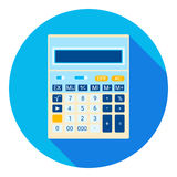 Comptable mathématique Web Icon de calculatrice Photo stock