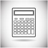 Comptable mathématique Web Icon de calculatrice Images stock