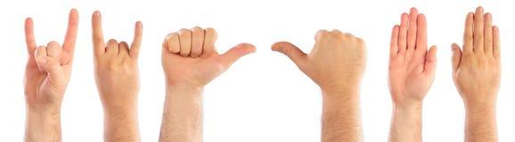comptant des mains mâles Photographie stock libre de droits