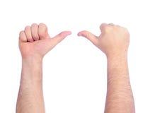 comptant des mains mâles Photo libre de droits